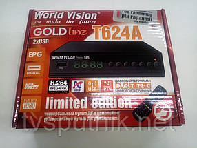 Эфирный тюнер World Vision T624A (с программируемым пультом)