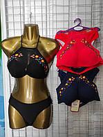 Купальник женский раздельный топ-сеточкой размер норма 36-40,цвет уточняйте при заказе