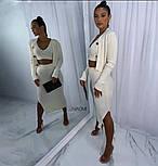 Жіночий костюм трійка з спідницею, топом і кофтою, фото 2