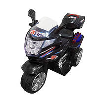 Мотоцикл электромобиль с МР3 и световыми эффектами,+ 1 мотор на 35 Вт, Черный T-7234