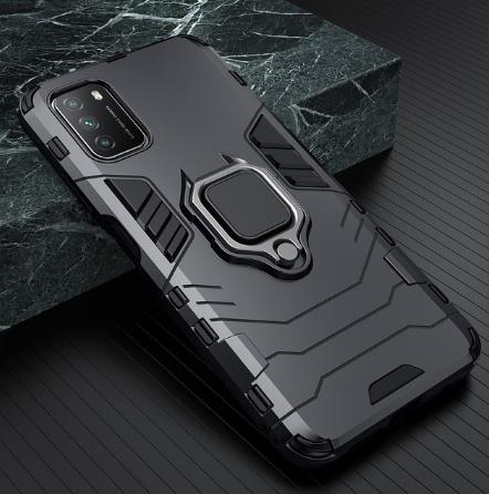 KEYSION Противоударный защитный чехол Xiaomi POCO M3 с кольцом Цвет Чёрный