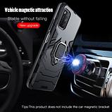 KEYSION Противоударный защитный чехол Xiaomi POCO M3 с кольцом Цвет Чёрный, фото 3