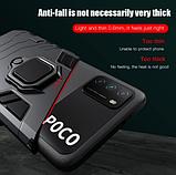 KEYSION Противоударный защитный чехол Xiaomi POCO M3 с кольцом Цвет Чёрный, фото 2