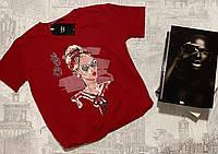 Футболка женская трикотажная для девушек My style размер норма 42-46, цвет уточняйте при заказе, фото 1