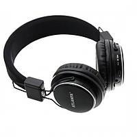 Портативні стерео Bluetooth бездротові навушники з MP3, FM радіо, з мікрофоном AT-7611A, складні