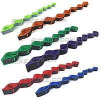 Стрічковий еспандер 90 см Elastiband гумка з петлями для розтяжки, шпагату, фітнесу, пілатесу, танців