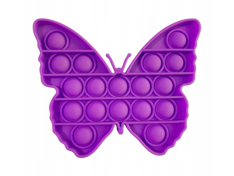 Антистрес сенсорна іграшка Pop It Метелик Пурпурова