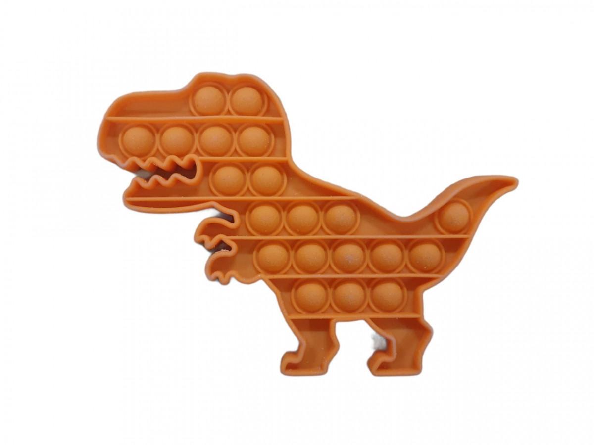 Антистрес сенсорна іграшка Pop It Динозавр Коричневий