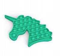 Антистрес сенсорна іграшка Pop It Єдиноріг Бірюзовий, фото 1