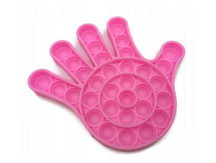 Антистресс сенсорная игрушка Pop It Рука Розовая