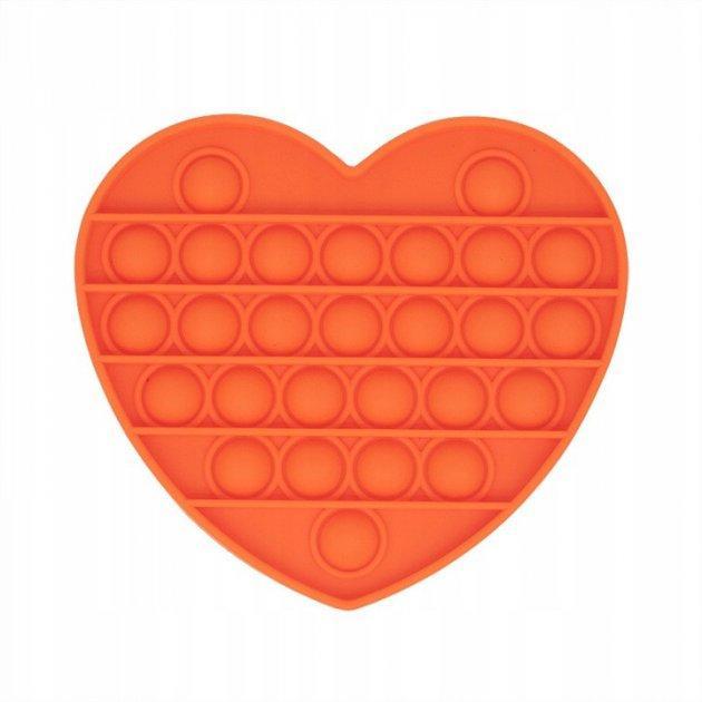 Антистресс сенсорная игрушка Pop It Сердечко Оранжевое