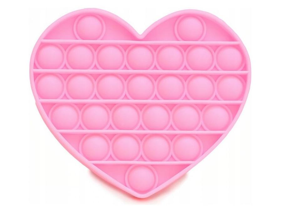 Антистресс сенсорная игрушка Pop It Сердечко Розовое