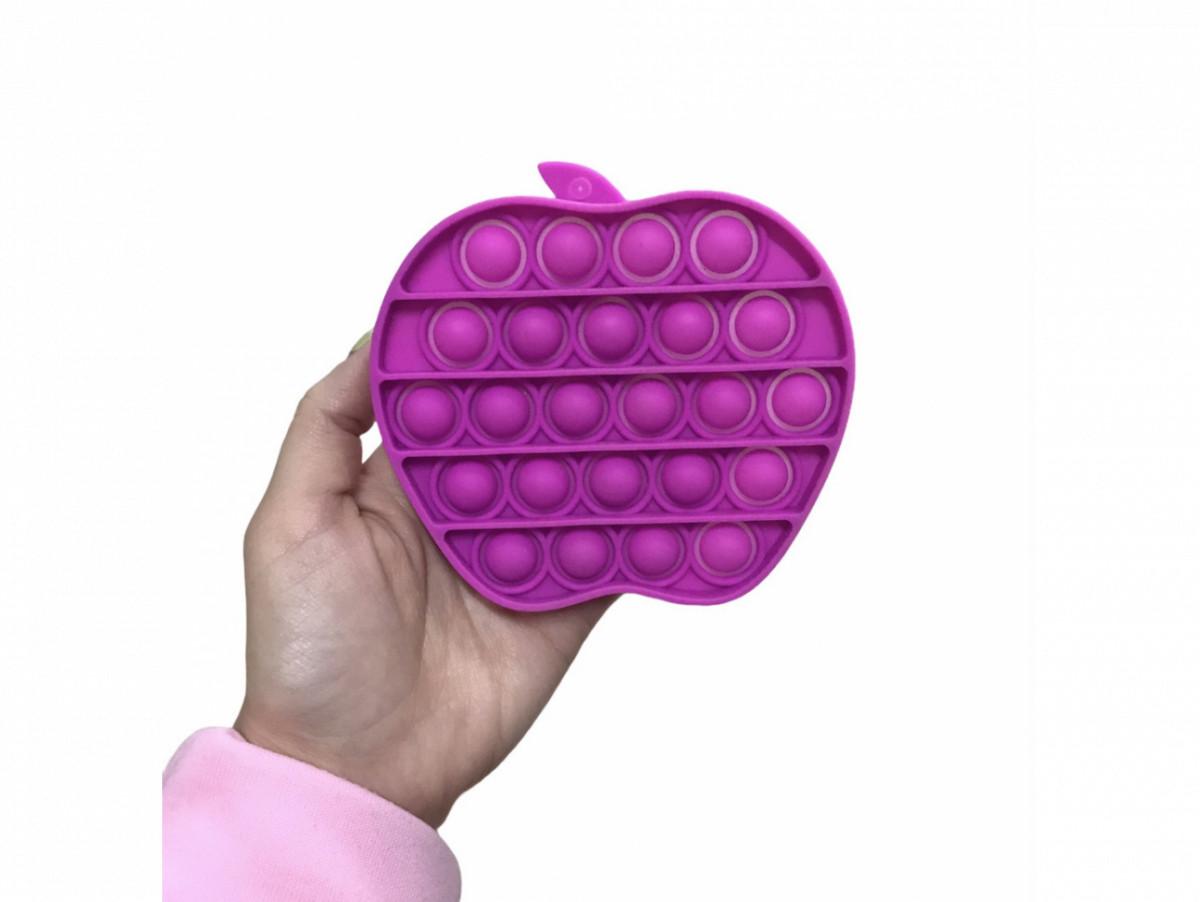 Антистрес сенсорна іграшка Pop It Яблуко Пурпурове