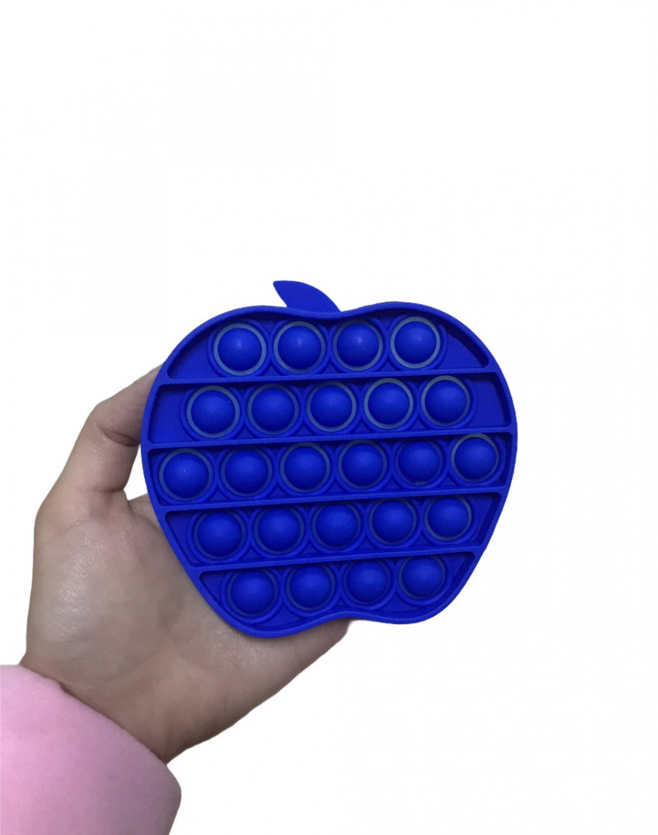 Антистресс сенсорная игрушка Pop It Яблоко Синее