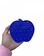 Антистресс сенсорная игрушка Pop It Яблоко Синее, фото 1