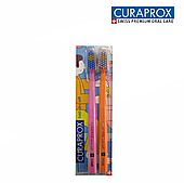 Набор зубных щеток Curaprox DUO BATHROOM 2021, d 10 мм, Ultra Soft, 2 шт