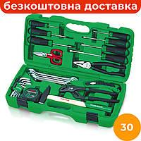 Комбинированный набор инструментов 30 ед. TOPTUL GAAI3001, компактный набор слесарного инструмента для дома