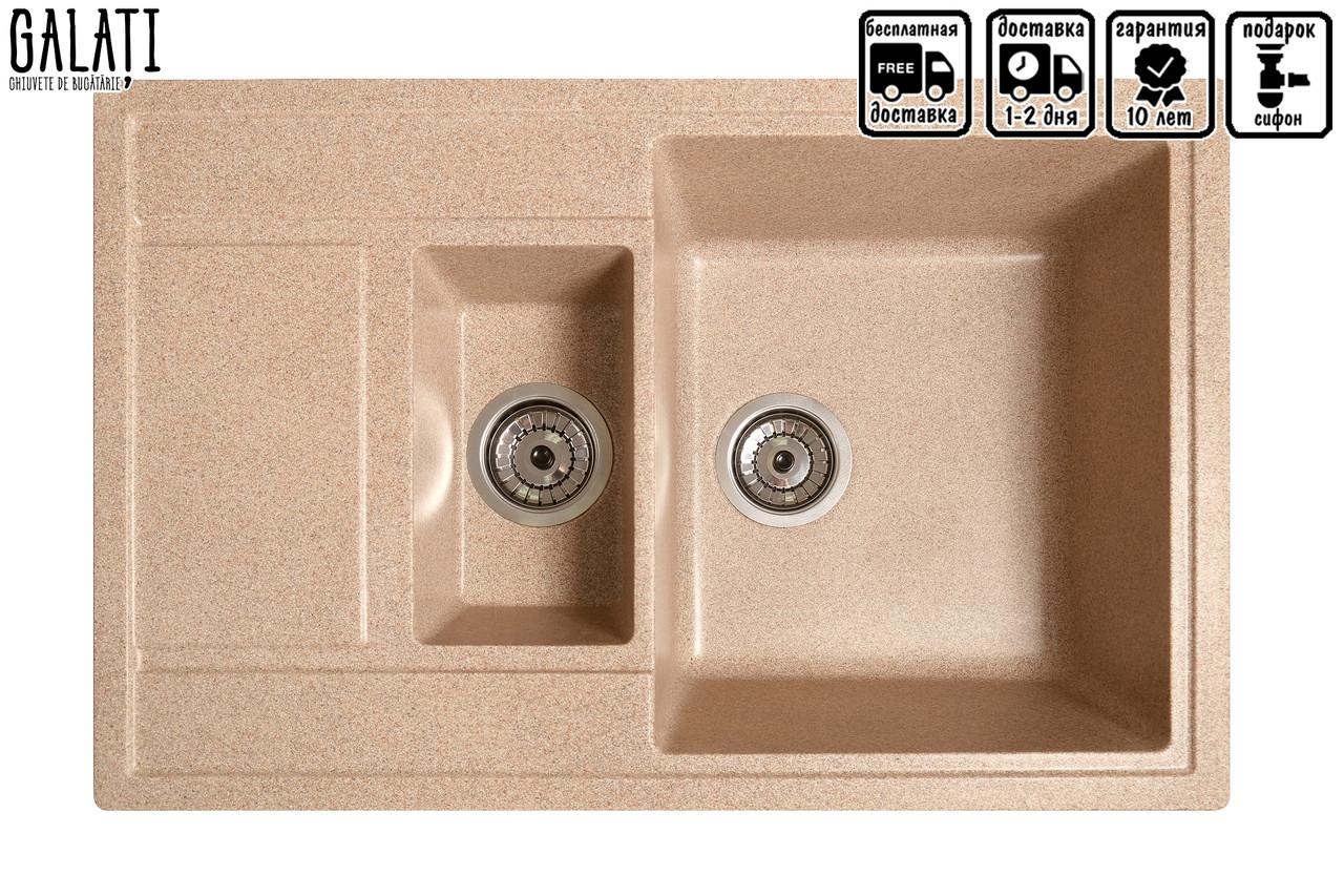 Кухонна мийка Galati Jorum 78D Piesok (301)