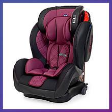 Детское автокресло для детей от 1 года до 12 лет группа 1/2/3 Isofix El Camino ME 1057 Bastoin фиолетовое