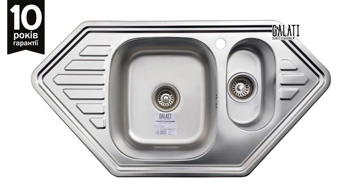 Кухонна мийка Galati Meduza 1.5 C Satin