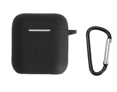 Чехол для наушников QCY T8 с карабином Цвет Чёрный Silicone Case