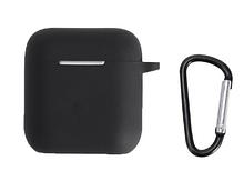 Чохол для навушників QCY T8 з карабіном Колір Чорний Silicone Case
