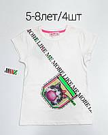Детская трикотажная футболка для девочки Like my размер 5-8 лет, цвет уточняйте при заказе, фото 1