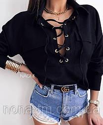 Блуза жіноча красива з довгим рукавом Оверсайз