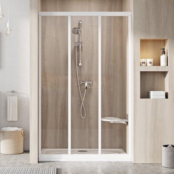 ASDP3-90 198 (Transparent) White Душевая дверь