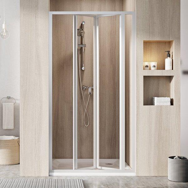 SDZ3-90 195 (Transparent) White Душевая дверь