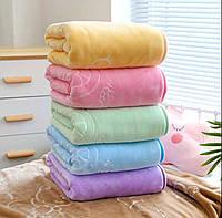 Детское велюровое одеяло-покрывало в кроватку/Детский плед в коляску