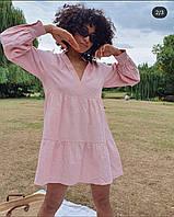 Стильное женское летнее платье/сарафан (черное, бежевое, розовое, джинс)