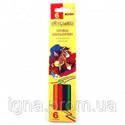 Олівці 6 кольоров шестигранні, Пегашка, Marco