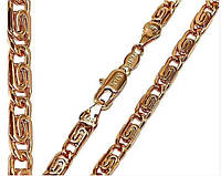Цепочка Xuping № 008.  Золото (розовое покрытие)  56 см х 3 мм