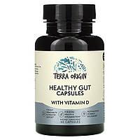 Terra Origin, Healthy Gut Capsules with Vitamin D, 60 Capsules