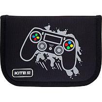 Пенал без наповнення Kite Education Gamer K21-622-4, 1 відділення, 2 одвороту