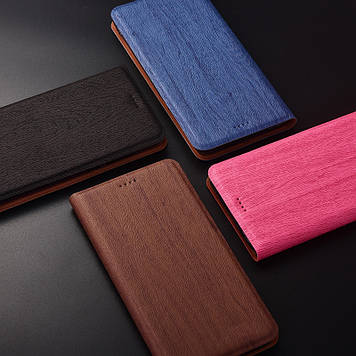 """Чехол книжка с текстурой дерева из иск. кожи для Samsung M10 M105F """"WOODER"""""""