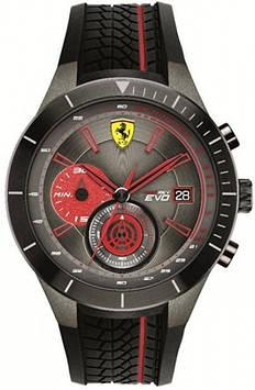 Мужские часы Scuderia Ferrari с аналоговым красным циферблатом - 0830341