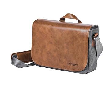 Сумка для фотоаппарата OLYMPUS OM-D Messenger Bag Leather + Strap (E0410225)