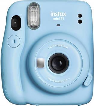 Камера моментальной печати Fujifilm Instax Mini 11 Sky Blue с фотобумагой Fujifilm INSTAX MINI EU GLOSSY