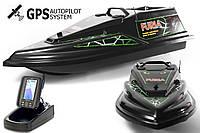 GPS (Maxi) Ехолот Toslon TF500 Прикормочний кораблик Фурія Шторм Чорна, фото 1