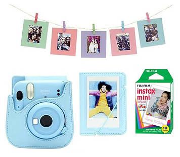 Камера моментальной печати Fujifilm Instax Mini 11 Sky Blue MEGA PACK