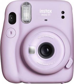Камера моментальной печати Fujifilm Instax Mini 11 Lilac Purple с  фотобумагой Fujifilm INSTAX MINI EU GLOSSY