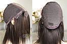 💎Натуральный женский парик коричневый с имитацией кожи, натуральный волос 💎, фото 2
