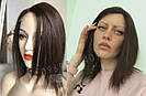 💎Натуральний жіночий парик золотистий з чубчиком, натуральний волосся 💎, фото 3