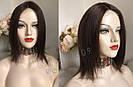 💎Натуральний жіночий парик золотистий з чубчиком, натуральний волосся 💎, фото 5