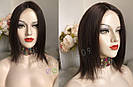 💎Натуральный женский парик коричневый с имитацией кожи, натуральный волос 💎, фото 5