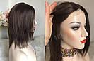 💎Натуральный женский парик коричневый с имитацией кожи, натуральный волос 💎, фото 8
