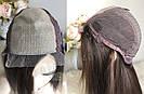 💎Натуральный женский парик коричневый с имитацией кожи, натуральный волос 💎, фото 6