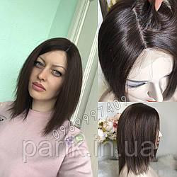 💎Натуральный женский парик коричневый с имитацией кожи, натуральный волос 💎